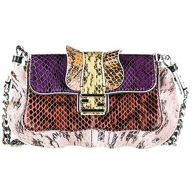f90805d9dc40 Image Unavailable. Image not available for. Color  Fendi women s leather  shoulder bag original micro baguette ...