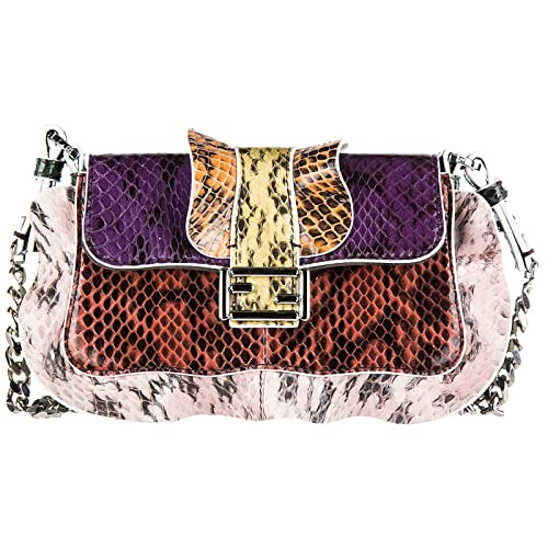 bbb1efeb51 Fendi women's leather shoulder bag original micro baguette elaphe multi  waves pu: Amazon.co.uk: Shoes & Bags