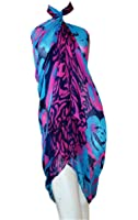 SCARF_TRADINGINC® Rose Jewelry Pareo Scarf Swimsuite Cover-up