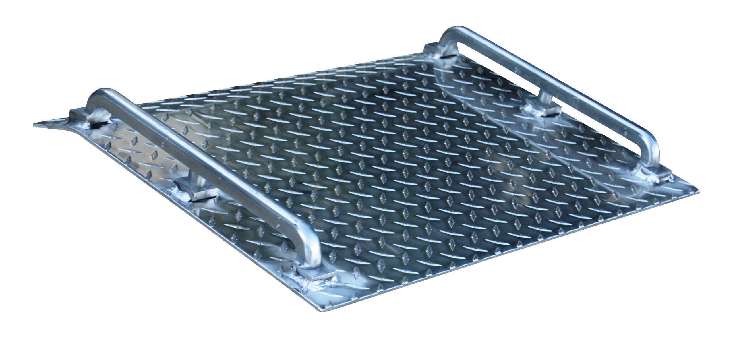 Vestil AMD-2418 Mini Dock Plate, Aluminum, 500-lb. Capacity, 18'' Length x 24'' Width x 1/8 Thick