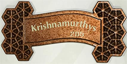 DLCCREATION Decorative 3D ABS Home Name Plate (42cm x 20cm)