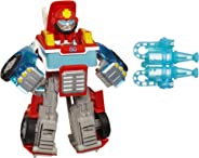 Playskool Heroes Transformers Rescue Bots Energize Heatwave the Fire-Bot Converting Toy Robot Action Figure, Toys for Kids A