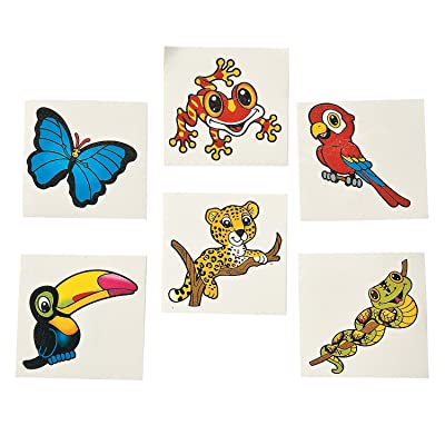 RAIN FOREST FRIENDS TATTOOS (6DZ) - Apparel Accessories - 72 Pieces: Toys & Games