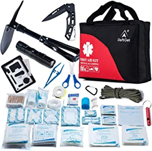 First Aid Kit Refill for Car Home Camping Travel Office Sports Gardening Mud Snow - Military Folding Shovel Survival Multitool Tools Box - 31 Items