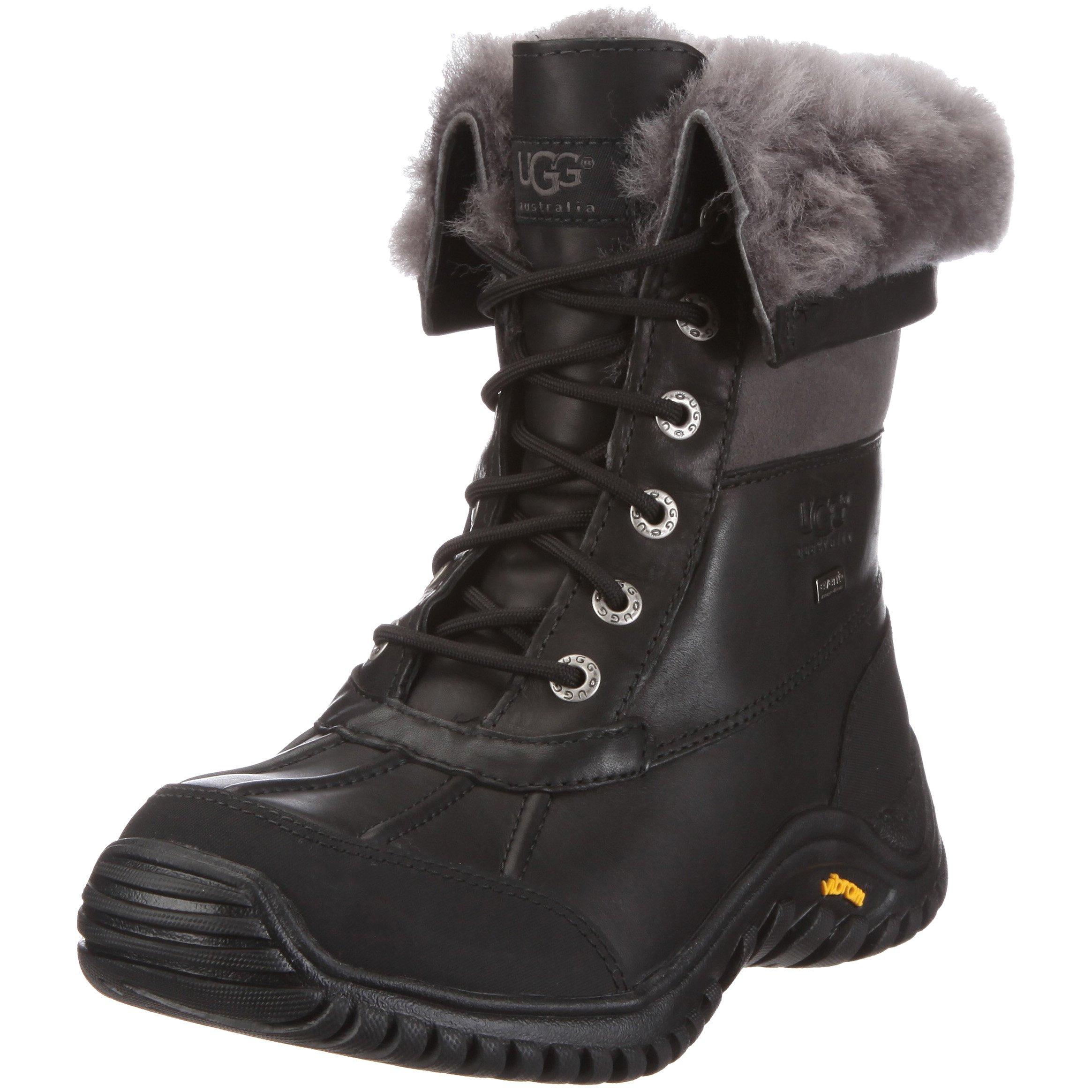 UGG Women's Adirondack II Winter Boot, Black/Grey, 9 B US