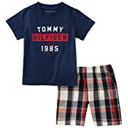 Tommy Hilfiger Baby Boys 2 Pieces Shorts Set, Navy, 6-9 Months