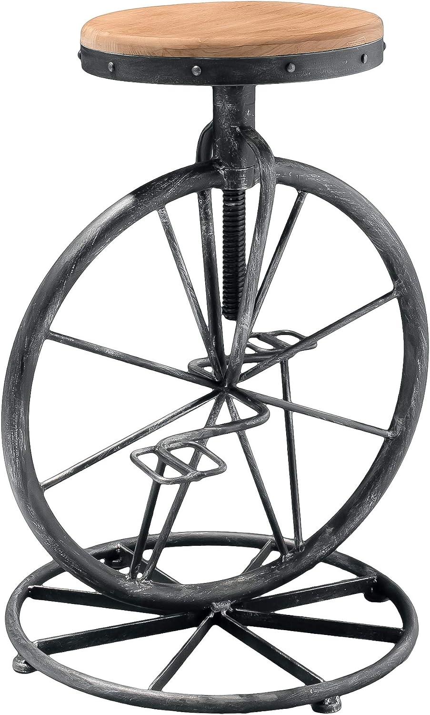 Christopher Knight Home Michaelo Bicycle Wheel Adjustable Barstool, Wood