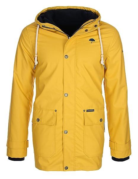 Schmuddelwedda - Chaqueta impermeable - abrigo impermeable - Manga Larga - para hombre amarillo Medium: Amazon.es: Ropa y accesorios