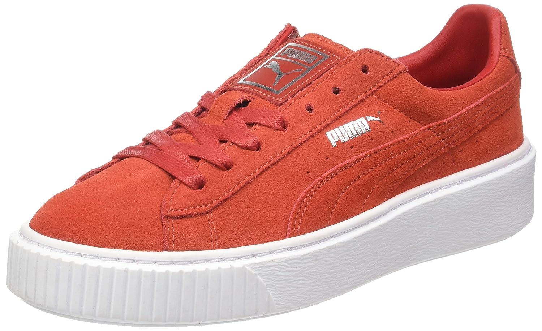 Puma Suede Platform, Zapatillas para Mujer 41 EU|Rojo (Barbados Cherry-barbados Cherry-puma White)