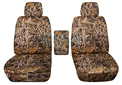 Strange 2009 2014 Ford F 150 Camo Truck Bucket Seat Covers With Center Armrest Wetland Camouflage 16 Prints 2010 2011 2012 2013 F Series F150 Front Squirreltailoven Fun Painted Chair Ideas Images Squirreltailovenorg