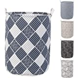HOKIPO® Folding Laundry Basket for Clothes, Round Collapsible Storage Basket - Large 43 LTR (AR2542)