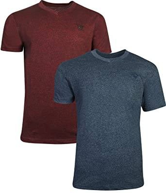 353584a083b2 Beverly Hills Polo Club Men's V-Neck T-Shirt with Signature Logo (2 ...