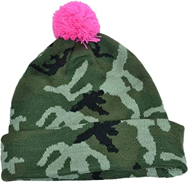 Image Unavailable. Image not available for. Color  Collection XIIX Womens Camo  Pom Pom Beanie Green c95d473c8e8