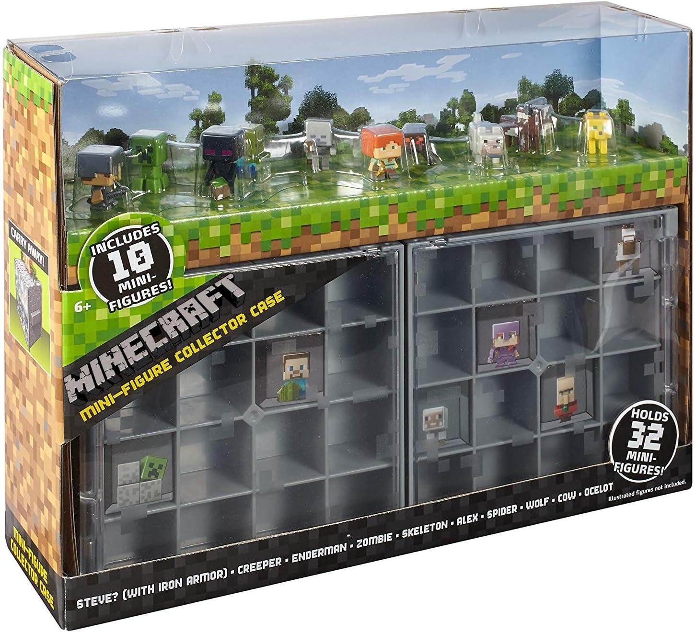 Minecraft Maleta de Coleccion con 10 Figuras de Acción Juego para Niños y Adultos con Personajes Mine Craft Mattel: Amazon.es: Juguetes y juegos