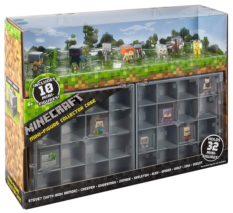 Minecraft - Collection Case mit 10 Actionfiguren Spiel für Kinder und Erwachsene mit Mine Craft Mattel Charaktere