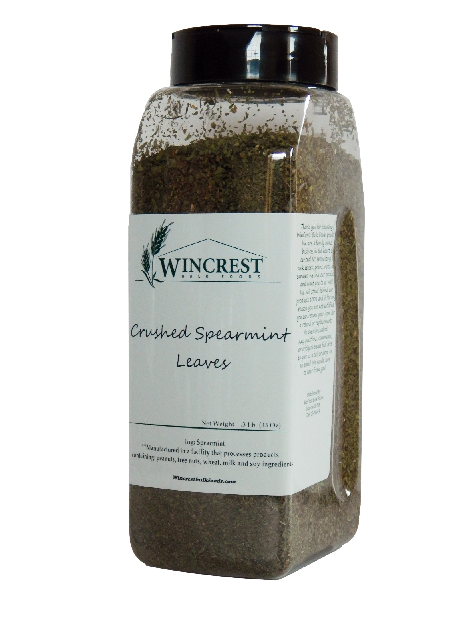 Crushed Spearmint Leaves - .3 Lb (33 Oz) Container