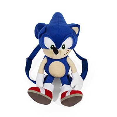 "FAB Starpoint Sega Sonic Blue 18"" inch Plush Backpack Bag: Toys & Games"