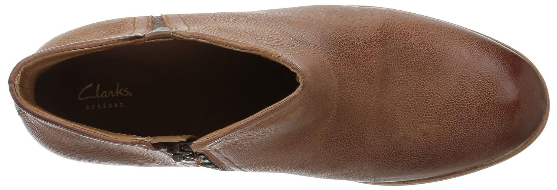 CLARKS Women's Maypearl Ramie Ankle Bootie B01MRZPWHY 7.5 B(M) US|Dark Tan