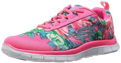 Mujer Rosa Zapatillas Flex Appeal Wildflowers De Deporte Skechers P4S6YS
