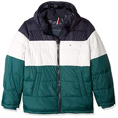 68b5be5f3495 Amazon.com  Tommy Hilfiger Men s Tall Classic Hooded Puffer Jacket  Clothing