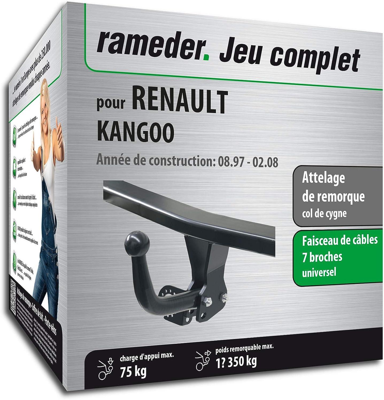 Rameder Attelage d/émontable avec Outil pour Renault KANGOO 130075-03404-5-FR Faisceau 7 Broches