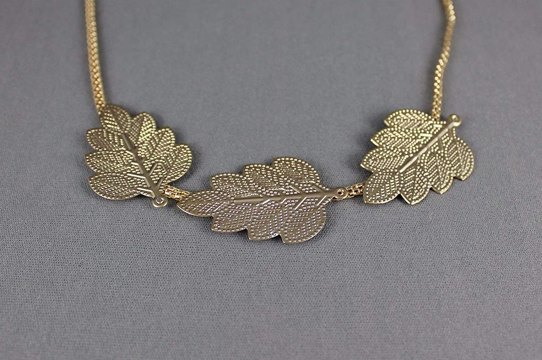 Gold Leaf medallion headband thin skinny chain hair band jewelry hippie boho