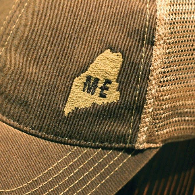 2e15d9e80506d Amazon.com  Chowdaheadz Mini Maine Dirty Water Mesh Trucker Hat - Brown   Clothing