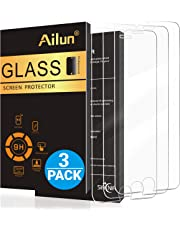Ailun Screen Protector for iPhone 8 Plus 7 Plus 6s Plus 6 Plus,[5.5inch][3Pack],2.5D Edge Tempered Glass Compatible with iPhone 8 Plus,7 Plus 6s Plus 6 Plus,Anti-Scratch,Case Friendly