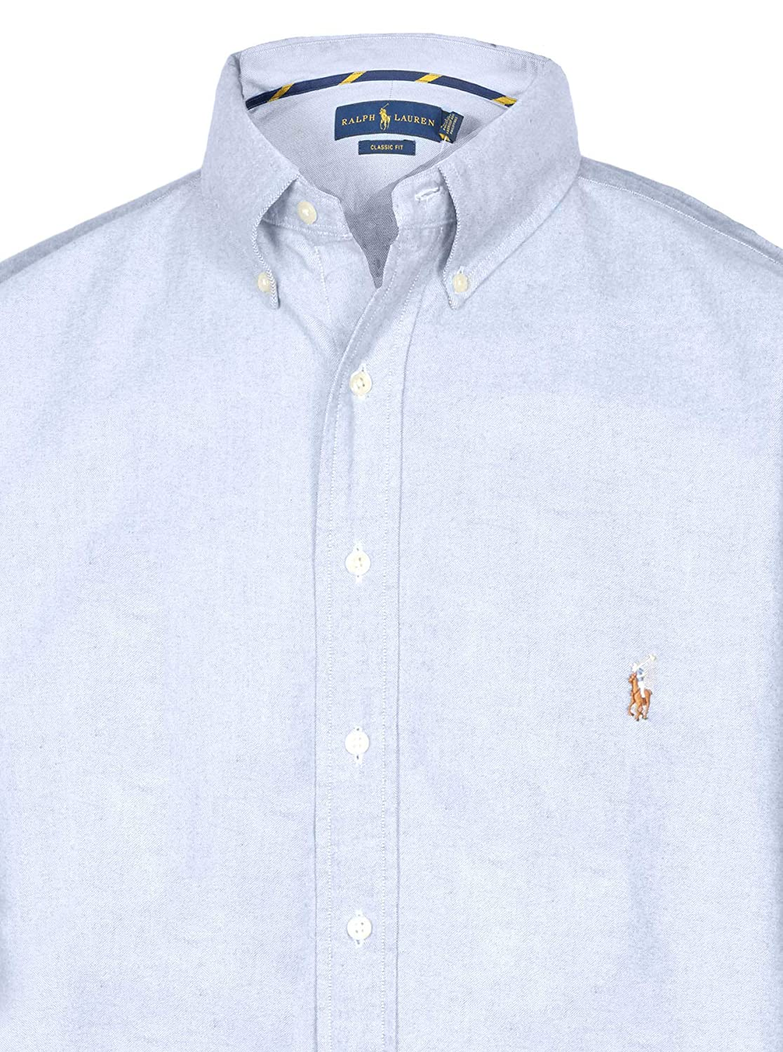 dfdc44b3d93 Amazon.com: RALPH LAUREN Polo Men's Big & Tall Classic Fit Short Sleeve  Solid Oxford Sport Shirt: Clothing