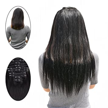 Remy clip in hair extensions black 1 100 gram 10 pcs clip in remy clip in hair extensions black 1 100 gram 10 pcs clip in human hair pmusecretfo Image collections