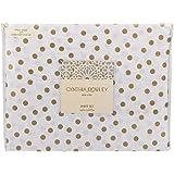 Cynthia Rowley Gold Polka Dots on White Cotton Sheet Set Queen