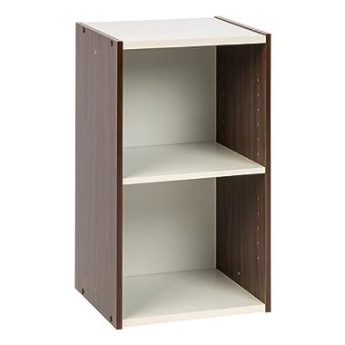 IRIS USA, UB-6035, Space Saving Shelf with Adjustable Shelf, 14 x 23 , Walnut Brown, 1 Pack