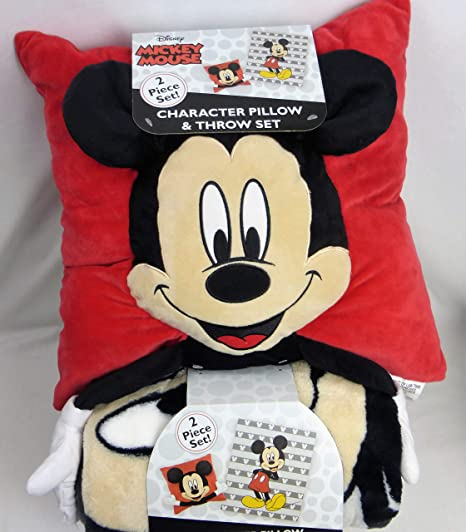 Amazon.com: Juego de almohada y manta de Mickey Mouse con ...