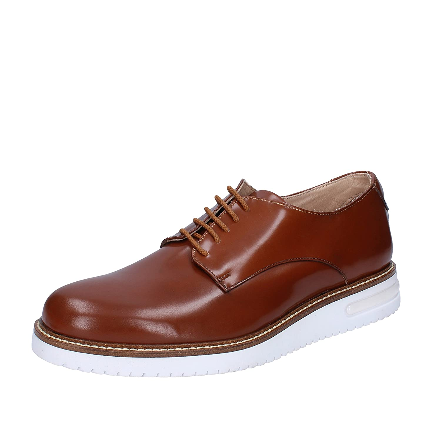 FDF SHOES Elegant Oxford Shoe Man 9 Brown US/ 42 EU Brown 9 Shiny Leather Parent B077JVPK7Q 6d793d