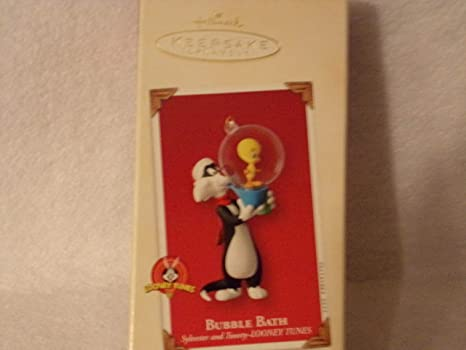 1996 Tweety and Sylvester Star Ornament in the Original Box