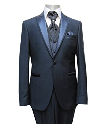 MUGA - Traje de boda - Hombre azul oscuro 56: Amazon.es ...