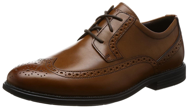 TALLA 42.5 EU Ancho. Rockport Madson Wingtip, Zapatos de Cordones Derby para Hombre