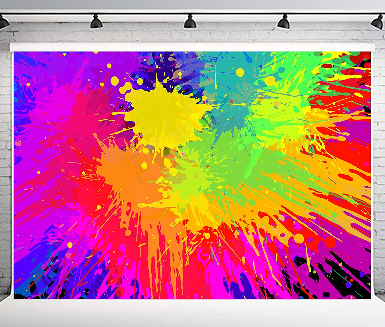 Amazon Com Phmojen Colorful Graffiti Backdrop Abstract Paint Splash Background For Photography Hip Hop Theme Birthday Party Decoration Art Studio Props 10x7ft Pph348 Camera Photo