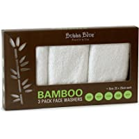 Bubba Blue Bamboo Viscose/Cotton Baby Bath Face Towel Washers Super Soft 3 Pack White Unisex