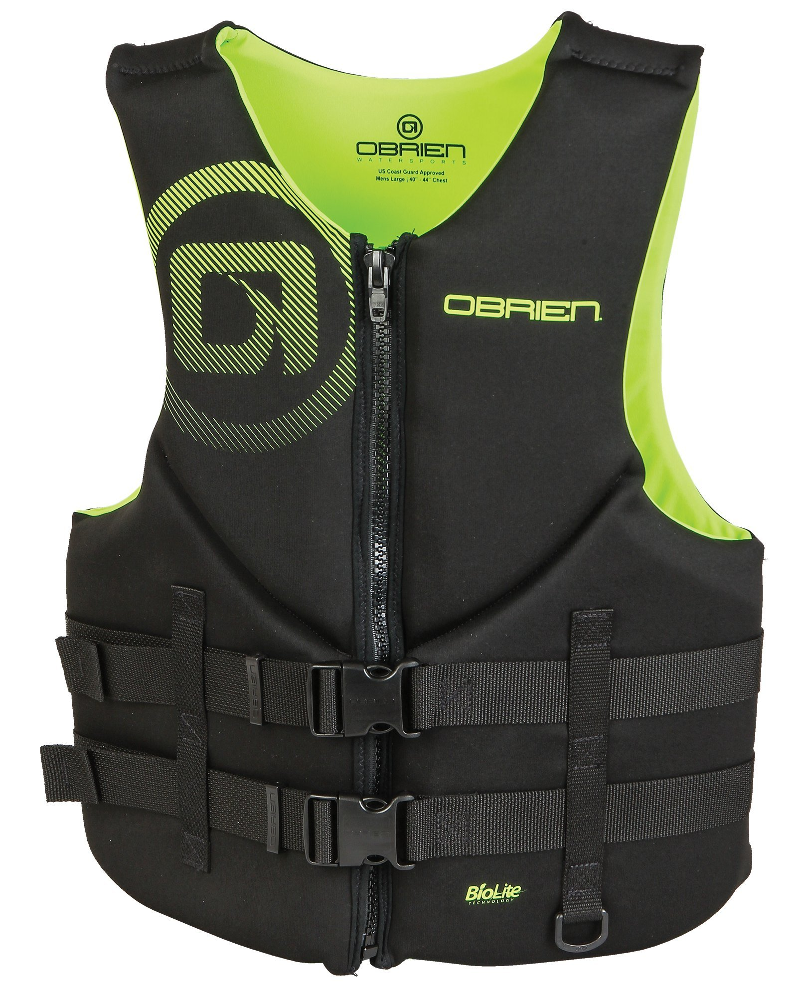 O'Brien Men's Traditional Neoprene Life Jacket, Green, X-Small by O'Brien