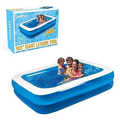 GardenKraft - Piscina Hinchable Rectangular (2,62 m): Gardenkraft 2.62m Garden Inflatable Rectangular Swimming Pool (Large): Juguetes y juegos