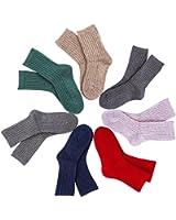 Lovely Annie Children 4 Pairs Wool Blend Crew Socks Random Color