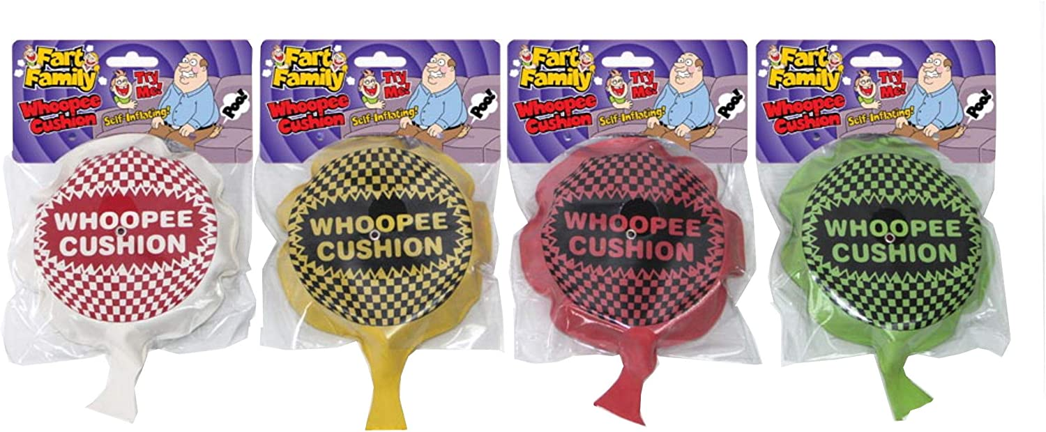 6 Inch Rubber Whoopee Cushion Toy Assorted Colours Single