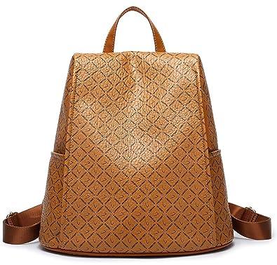 Vegan Leather Backpack,Fashion Backpacks Leather bag for womens vintage bag pack work backpack (
