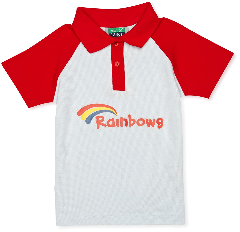 Rainbow - Polo de Manga Corta para niña: Amazon.es: Ropa y accesorios
