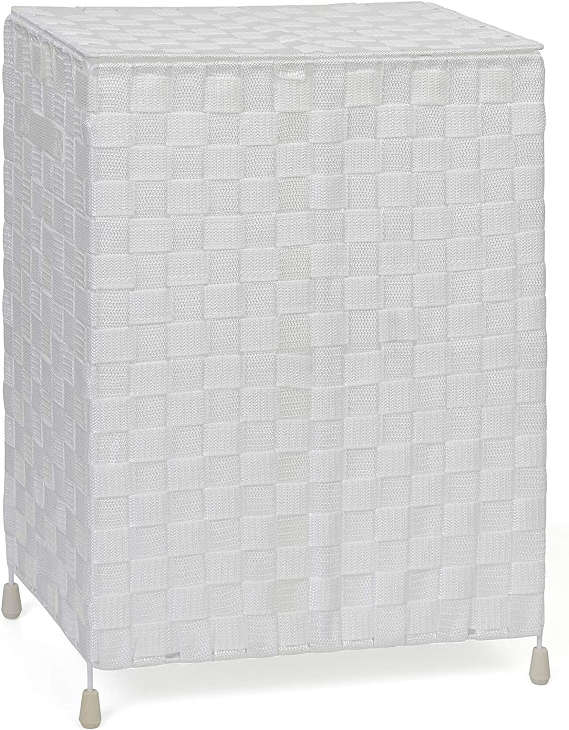 Laundry Basket Hamper– Washing Bin with Lid & Insert Handle for Easy Carrying – Convenient Storage Organizer Box for Clothes, Toys –White - by Arpan (White)