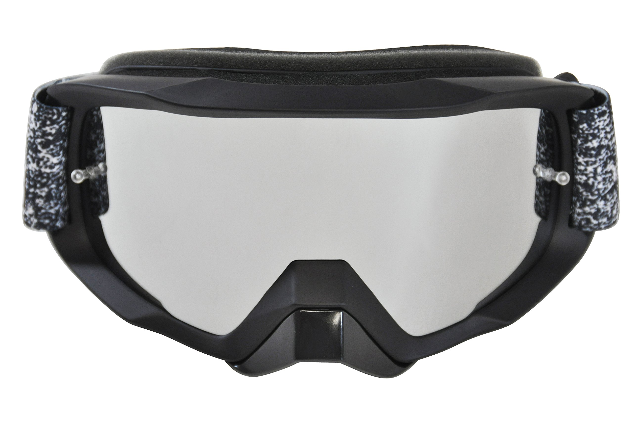 MotoFixation Motocross Mx Dirt Bike Moto ATV Motorcycle - Racing Goggles - With Tear Off Pins and Removable Nose Guard(Black)
