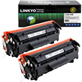 LINKYO Replacement Toner Cartridges for Canon 104 (Black, 2-Pack)