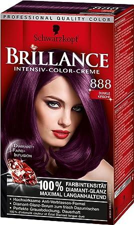 3x schwarzkopf brillance couleur fonce de cerise cheveux 888 - Coloration Violine Soie