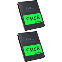 Skywin FMCB Free McBoot Card v1.966 for PS2-2 Pack Plug and Play PS2 Memory Card - 64 GB Memory Card PS2 Runs Games in…